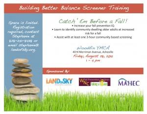 Building Better Balance Screener Training @ Woodfin YMCA | Asheville | North Carolina | United States