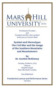 Symbol and Stereotype @ Mars Hill University