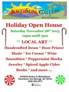 ArtiSUN Gallery 2015 Holiday Open House