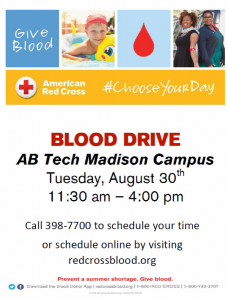 ARC Blood Drive @ AB Tech, Madison campus