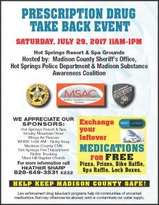 Prescription Drug Take Back Event @ Hot Springs Spa and Resort | Hot Springs | North Carolina | United States