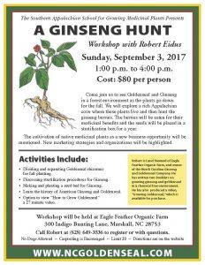 A Ginseng Hunt with Robert Eidus @ Eagle Feather Farm | Marshall | North Carolina | United States