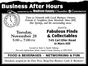 Business After Hours: Fabulous Finds & Collectables @ Fabulous Finds & Collectables | Mars Hill | North Carolina | United States