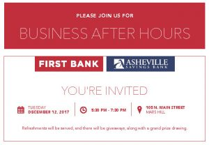 Business After Hours: Asheville Savings Bank/First Bank @ Asheville Savings Bank | Mars Hill | North Carolina | United States