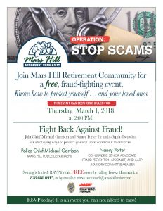 Fraud Prevention at Mars Hill Retirement Community @ Mars Hill Retirement | Mars Hill | North Carolina | United States