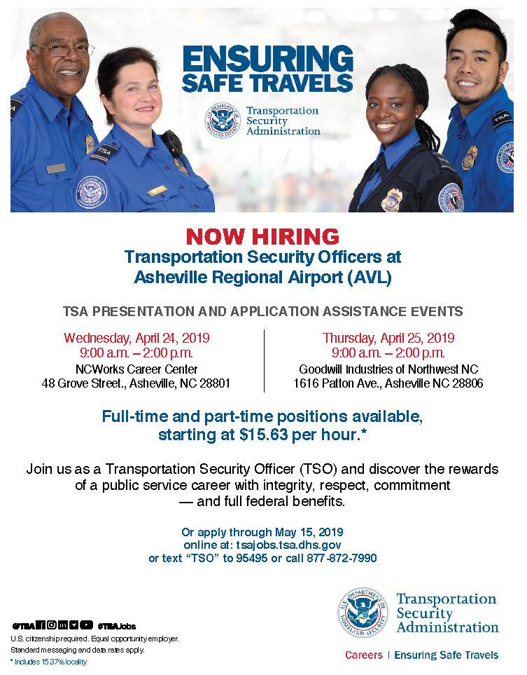 TSA Hiring Event – Madison County Chamber of Commerce